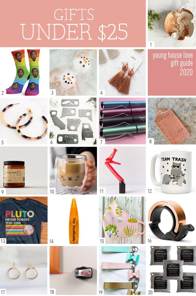 Gifts Under 25 Dollars Graphic Collage